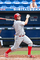 Cody Overbeck (5) of the Clearwater Threshers during a game vs. the St. Lucie Mets May 30 2010 at Digital Domain Park, Port St. Lucie Florida. St. Lucie won the game against Clearwater by the score of 3-2. Photo By Scott Jontes/Four Seam Images