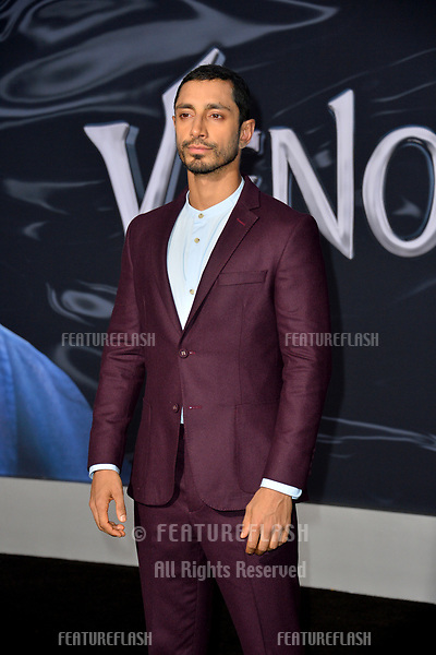 """LOS ANGELES, CA. October 01, 2018: Riz Ahmed at the world premiere for """"Venom"""" at the Regency Village Theatre.<br /> Picture: Paul Smith/Featureflash"""