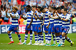 Reading players celebrate during the penalty shootout during the SkyBet Championship Play Off Final match at the Wembley Stadium, England. Picture date: May 29th, 2017.Picture credit should read: Matt McNulty/Sportimage