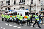 © Joel Goodman - 07973 332324 - all rights reserved . 13/09/2009 . London , UK . March for England hold a march and rally at Piccadilly Circus in Central London . Photo credit : Joel Goodman