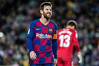 2nd February 2020; Camp Nou, Barcelona, Catalonia, Spain; La Liga Football, Barcelona versus Levante; Lionel Messi of FC Barcelona after a good scoring chance gets away