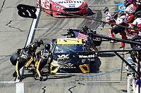 July 16, 2017 - Loudon, New Hampshire, U.S. - Martin Truex Jr, Monster Energy NASCAR Cup Series driver of the Wix Filters Toyota (78), makes a pit stop at the NASCAR Monster Energy Overton's 301 race held at the New Hampshire Motor Speedway in Loudon, New Hampshire. Eric Canha/CSM