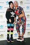 "Rita Ora, Riisa Naka, September 19, 2014 : (L to R) British singer, songwriter and actress Rita Ora and Japanese actress Riisa Naka pose for the cameras during the ""adidas Originals by Rita Ora"" launch on September 19, 2014 in Tokyo, Japan. (Photo by Rodrigo Reyes Marin/AFLO)"