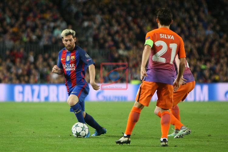 UEFA Champions League 2016/2017 - Matchday 3.<br /> FC Barcelona vs Manchester City FC: 4-0.<br /> Lionel Messi vs David Silva.