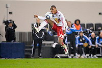 Juan Agudelo (39) of the New York Red Bulls. The San Jose Earthquakes defeated the New York Red Bulls 3-1, (3-2) on aggregate during the 2nd leg of the Major League Soccer (MLS) Eastern Conference Semifinals at Red Bull Arena in Harrison, NJ, on November 04, 2010.