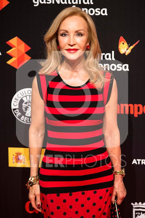 Carmen Lomana attends to the cocktail presentation of the XIX Malaga Film Festival at Circulo de Bellas Artes in Madrid. April 06, 2016. (ALTERPHOTOS/Borja B.Hojas)