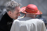 Monsignor Georg Gaenswein private secretary to Pope Benedict XVI during his weekly general audience in St. Peter square at the Vatican, Wednesday.6 june, 2012