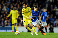 Manu Trigueros of Villarreal CF vies for the ball with Ryan Jack of Rangers during Rangers vs Villarreal CF, UEFA Europa League Football at Ibrox Stadium on 29th November 2018