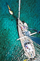 View from the top of the mast<br /> Virgin Islands