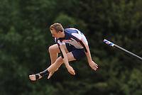 FIERLJEPPEN: IJLST: 10-07-2013, 1e Klas wedstrijd, Hans Ulco de Boer, ©foto Martin de Jong