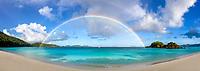 Rainbow over Trunk Bay<br /> Virgin Islands National Park<br /> St. John<br /> US Virgin Islands