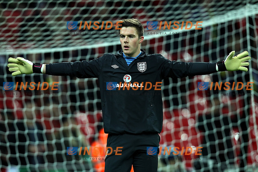 Londra 6-02-2013 Wembley Stadium.Calcio amichevole internazionale Inghilterra vs Brasile.Friendly Match England Vs Brazil .Jack Butland.Photo Matteo Ciambelli / Insidefoto