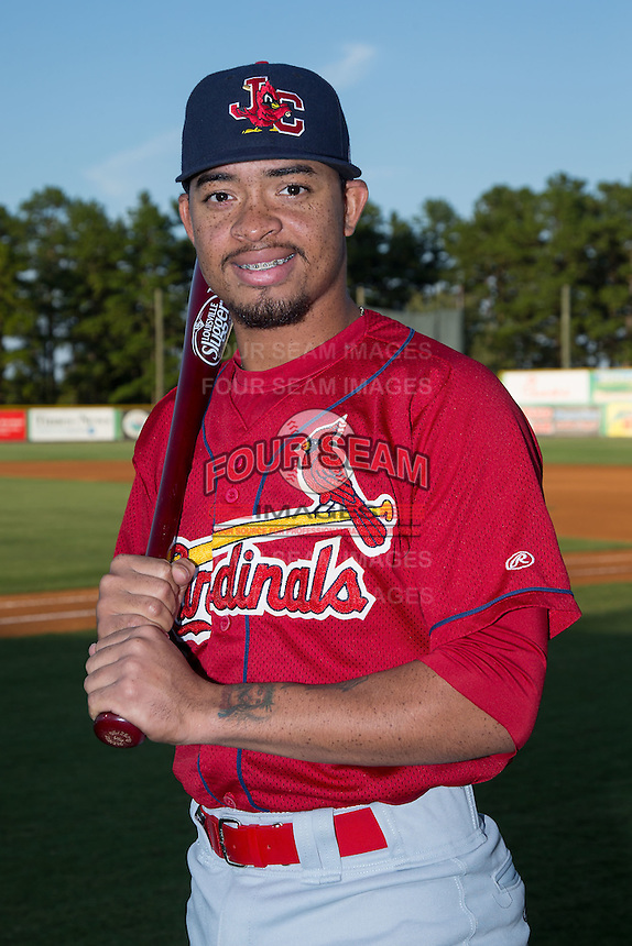 Johnson City Cardinals shortstop Edmundo Sosa (19) poses for a photo prior to the game against the Burlington Royals at Burlington Athletic Park on August 22, 2015 in Burlington, North Carolina.  The Cardinals defeated the Royals 9-3. (Brian Westerholt/Four Seam Images)