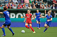 Portland, Oregon - Sunday May 29, 2016: Portland Thorns FC midfielder Celeste Boureille (30). The Portland Thorns play the Seattle Reign during a regular season NWSL match at Providence Park.