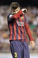 FC Barcelona's Gerard Pique during La Liga match.September 1,2013. (ALTERPHOTOS/Acero) <br /> Football Calcio 2013/2014<br /> La Liga Spagna<br /> Foto Alterphotos / Insidefoto <br /> ITALY ONLY