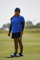 Dottie Ardina (PHI) watches her putt on 1 during the round 2 of the Volunteers of America Texas Classic, the Old American Golf Club, The Colony, Texas, USA. 10/4/2019.<br /> Picture: Golffile | Ken Murray<br /> <br /> <br /> All photo usage must carry mandatory copyright credit (© Golffile | Ken Murray)