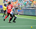 The Hague, Netherlands, June 13: Lydia Haase #12 of Germany in action during the field hockey placement match (Women - Place 7th/8th) between Korea and Germany on June 13, 2014 during the World Cup 2014 at Kyocera Stadium in The Hague, Netherlands. Final score 4-2 (2-0)  (Photo by Dirk Markgraf / www.265-images.com) *** Local caption ***