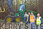 CHOP CHOP: Members of the new forestry group in Currow with machinist Jessie Curran, l-r: Paddy Cronin, Pat Fleming, Padraig Cronin, Derry Mangan.