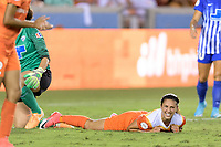 Houston, TX - Wednesday June 28, 2017: Carli Lloyd reacts to missing a shot on the Boston goal during a regular season National Women's Soccer League (NWSL) match between the Houston Dash and the Boston Breakers at BBVA Compass Stadium.