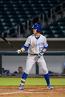 AZL Royals first baseman Nick Pratto (13) at bat against the AZL Cubs on July 19, 2017 at Sloan Park in Mesa, Arizona. AZL Cubs defeated the AZL Royals 5-4. (Zachary Lucy/Four Seam Images)