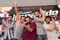 24.07.2012. Presentation at the Madrid Film Academy of the movie 'Impavido&acute;, directed by Carlos Theron and starring by Marta Torne, Selu Nieto, Nacho Vidal, Carolina Bona, Julian Villagran and Manolo Solo. In the image Selu Nieto, Nacho Vidal, Carlos Theron, Julian Villagran and Manolo Solo (Alterphotos/Marta Gonzalez) /NortePhoto.com*<br />  **CREDITO*OBLIGATORIO** *No*Venta*A*Terceros*<br /> *No*Sale*So*third* ***No*Se*Permite*Hacer Archivo***No*Sale*So*third*&Acirc;&copy;Imagenes*con derechos*de*autor&Acirc;&copy;todos*reservados*.