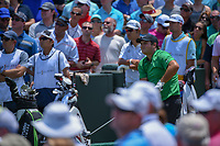 Patrick Reed (USA) watches his tee shot on 1 during round 1 of The Players Championship, TPC Sawgrass, at Ponte Vedra, Florida, USA. 5/10/2018.<br /> Picture: Golffile | Ken Murray<br /> <br /> <br /> All photo usage must carry mandatory copyright credit (&copy; Golffile | Ken Murray)