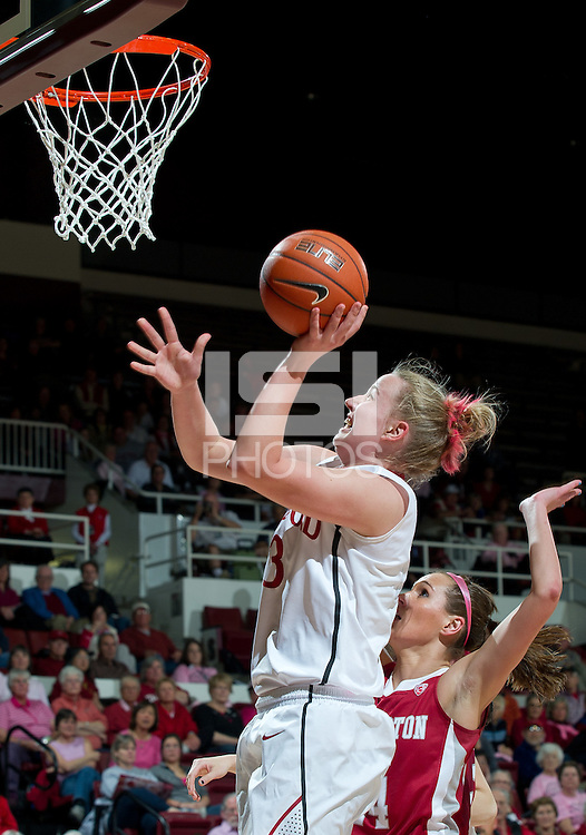 STANFORD, CA - February  10, 2011: Stanford Cardinal's Mikaela Ruef during the Stanford 100-59 win over Washington State at Maples Pavilion in Stanford, California.