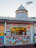ENGLAND, Brighton, the Pier Ice Cream parlor