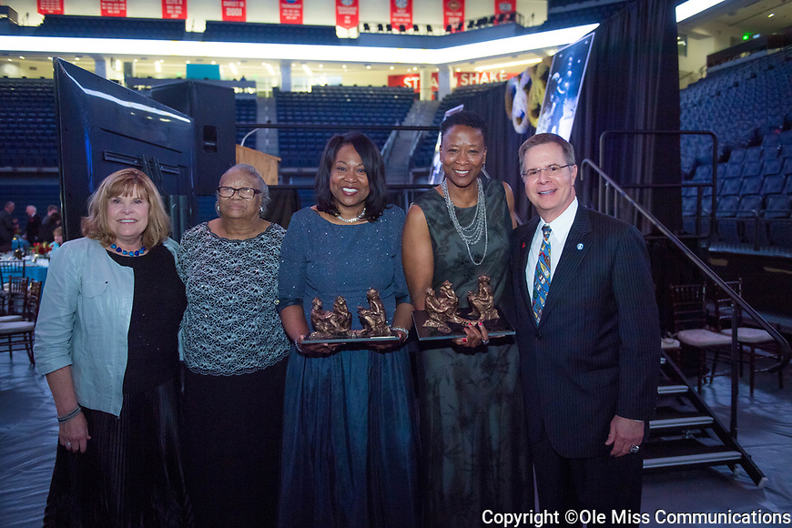 Photo by Kevin Bain/Ole Miss Communications2017 Legacy Award - Peggie Gillom-Granderson and Jennifer Gillom.  Photo by Kevin Bain/Ole Miss Communications