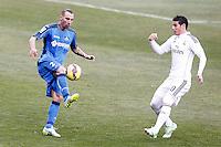 Getafe's Alexis Ruano (l) and Real Madrid's James Rodriguez during La Liga match.January 18,2013. (ALTERPHOTOS/Acero) /NortePhoto<br /> NortePhoto.com