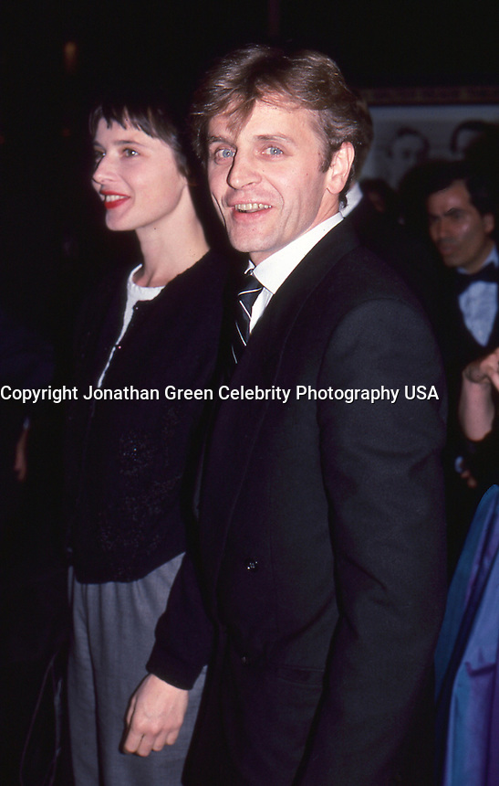 Mikhail Baryshnikov & Isabella Rossellini <br /> 1987 By Jonathan Green<br /> Premiere of movie Dancers NYC