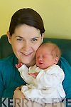 Brenda Hannon from Kilflynn with her son Fionn who was born on New years day at Kerry General Hospital.