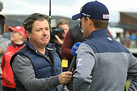 Bernd Wiesberger (AUT) interviewed by Shane O'Donohue during the final round of the Made in Denmark presented by Freja, played at Himmerland Golf & Spa Resort, Aalborg, Denmark. 26/05/2019<br /> Picture: Golffile | Phil Inglis<br /> <br /> <br /> All photo usage must carry mandatory copyright credit (© Golffile | Phil Inglis)