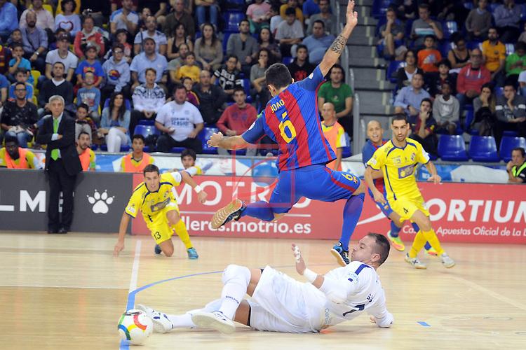 League LNFS 2016/2017 - Game 4.<br /> FC Barcelona Lassa vs Gran Canaria FS: 4-2.<br /> Gus vs Joao Batista.