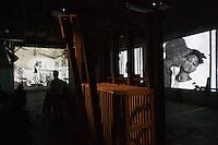 "dOCUMENTA (13) in Kassel, Germany..Hauptbahnhof (Main Railway Station)..William Kentridge, ""The Refusal of Time"", 2012.."