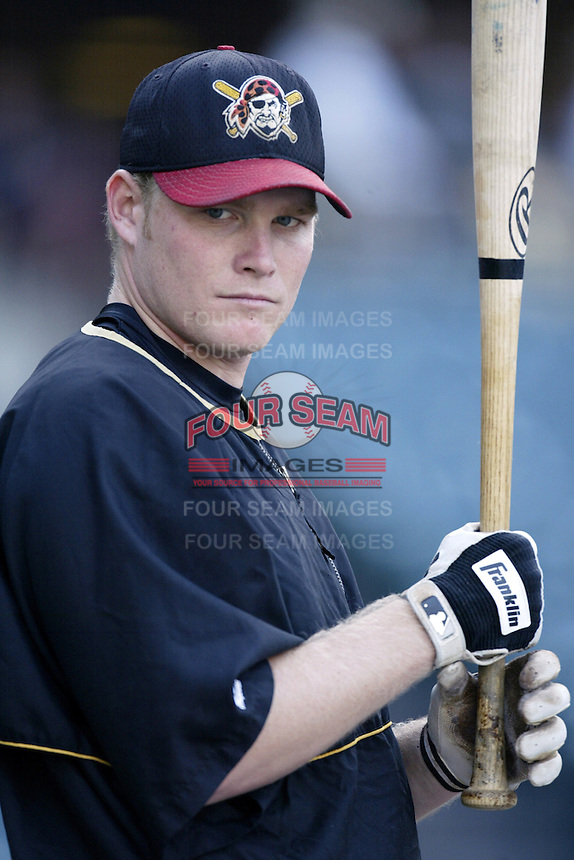 Craig Wilson of the Pittsburgh Pirates before a 2002 MLB season game against the Los Angeles Angels at Angel Stadium, in Anaheim, California. (Larry Goren/Four Seam Images)