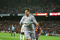 02.09.2012 SPAIN -  La Liga 12/13 Matchday 3th  match played between F.C. Barcelona vs Valencia C.F. (1-0) at Nou Camp stadium. The picture show Diego Alves Carreira (Goalkeeper of Valencia)