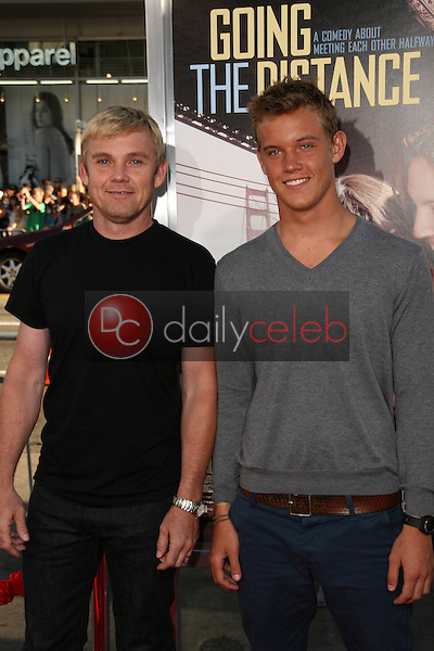 """Rick Schroder and son Luke Schroder<br /> at the """"Going The Distance"""" Los Angeles Premiere, Chinese Theater, Hollywood, CA. 08-23-10<br /> David Edwards/Dailyceleb.com 818-249-4998"""