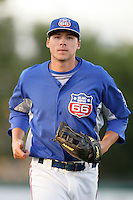 May 26, 2010: Clay Calfee of the Inland Empire 66'ers during game against the Bakersfield Blaze at Arrowhead Credit Union Park in San Bernardino,CA.  Photo by Larry Goren/Four Seam Images