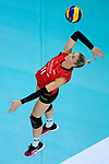 25.08.2018, …VB Arena, Bremen<br />Volleyball, LŠ&auml;nderspiel / Laenderspiel, Deutschland vs. Niederlande<br /><br />Aufschlag / Service Louisa Lippmann (#11 GER)<br /><br />  Foto &copy; nordphoto / Kurth
