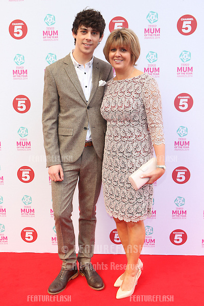 Matt Richardson and his Mother arriving at the Tesco Mum Of The Year Awards 2014, at The Savoy, London. 23/02/2014 Picture by: Alexandra Glen / Featureflash