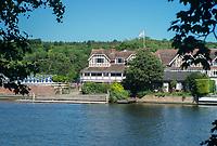 Henley On Thames. Oxfordshire/ Berkshire. United Kingdom. 26/17.05.2017. General View, across the River Thames at the Leander Club House.<br /> <br /> <br /> [Mandatory Credit Peter SPURRIER/Intersport Images]