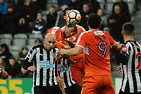 Andrew Shinnie of Luton Town heads goanward during Newcastle United vs Luton Town, Emirates FA Cup Football at St. James' Park on 6th January 2018