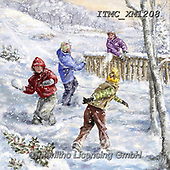 Marcello, CHRISTMAS CHILDREN, WEIHNACHTEN KINDER, NAVIDAD NIÑOS, paintings+++++,ITMCXM1208,#xk# ,playing in snow
