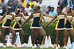 12 September 2015: NC A&T cheerleaders. The University of North Carolina Tar Heels hosted the North Carolina A&T State University Aggies at Kenan Memorial Stadium in Chapel Hill, North Carolina in a 2015 NCAA Division I College Football game.