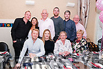 Liz Flavin Ballydonoghue second from right front celebrating her 60th birthday with family at Eabha Joan's Restaurant, Listowel on Saturday night last