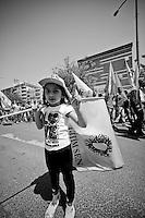 Une fillette lors de la manifestion du 1er mai 2013 à Yenisehir.<br /> A girl at the manifestion May 1, 2013 Yenisehir.