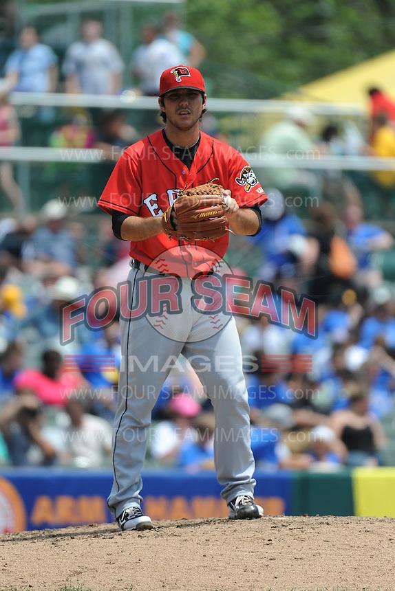 Erie SeaWolves pitcher Ryan Robowski (8) during game against the Trenton Thunder at ARM & HAMMER Park on May 29 2013 in Trenton, NJ.  Trenton defeated Erie 3-1.  Tomasso DeRosa/Four Seam Images