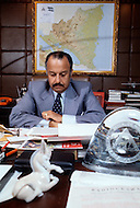 Managua, Nicaragua. March 1, 1978. The president Anastasio Somoza works in his office. Nicaraguan dictator Anastasio Somoza, who took over from his father Anastasio Somoza Garcia, then his eldest brother Luis, after the latter assassinated their father, ruled as President of Nicaragua between 1967-1972 and again in 1974, until the Sandinista revolution in 1979, which finally put an end to the dictatorial regime of the Somoza family.