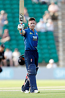Joe Denly acknowledges the crowd after his century for Kent during the Royal London One Day Cup game between Kent and Gloucestershire at the County Ground, Beckenham, on June 3, 2018
